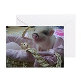 Cute Piggy Greeting Cards (Pk of 10)