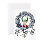 Ross Clan Badge Greeting Cards (Pk of 10)