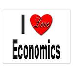I Love Economics Small Poster