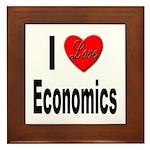 I Love Economics Framed Tile