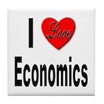 I Love Economics Tile Coaster