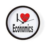 I Love Economics Wall Clock