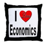I Love Economics Throw Pillow