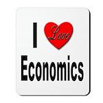 I Love Economics Mousepad