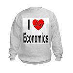 I Love Economics (Front) Kids Sweatshirt