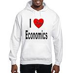 I Love Economics (Front) Hooded Sweatshirt