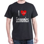 I Love Economics (Front) Black T-Shirt