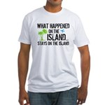 Happened on Island Fitted T-Shirt