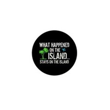 Happened on Island Mini Button