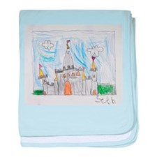 Seth's Drawing of Castle baby blanket