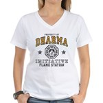 Dharma Flame Station Women's V-Neck T-Shirt