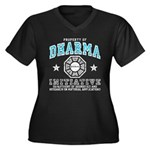 Dharma Property Women's Plus Size V-Neck Dark T-Sh