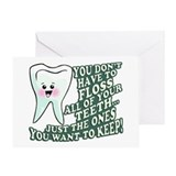Floss Those Teeth Greeting Card