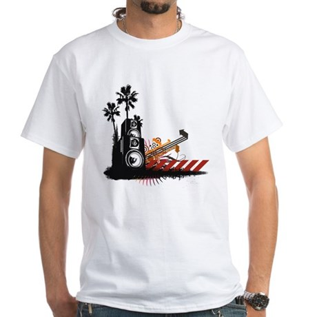Speaker Tower White T-Shirt