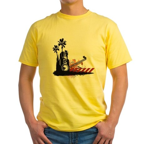 Speaker Tower Yellow T-Shirt