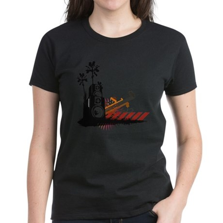 Speaker Tower Women's Dark T-Shirt
