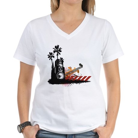 Speaker Tower Women's V-Neck T-Shirt