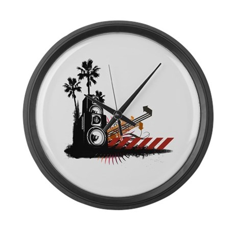 Speaker Tower Large Wall Clock
