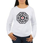 Dharma Red Heart Women's Long Sleeve T-Shirt