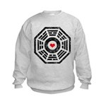 Dharma Red Heart Kids Sweatshirt