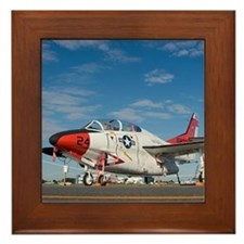 Funny Aviator Framed Tile