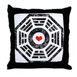 Dharma Red Heart Throw Pillow