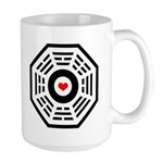 Dharma Red Heart Large Mug
