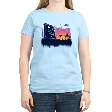 Video Game Beach Women's Light T-Shirt