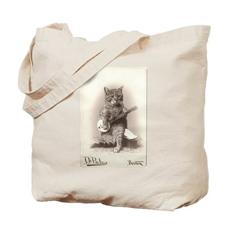 Cat Playing a Banjo Tote Bag