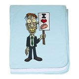 I Love Brains Zombie baby blanket