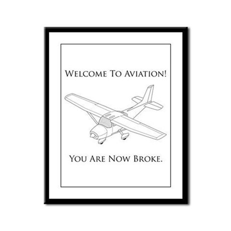 Aviation Framed Panel Print