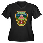 Asheville Fire Department Women's Plus Size V-Neck