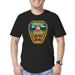 Asheville Fire Department Men's Fitted T-Shirt (da