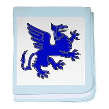 Blue Griffin baby blanket
