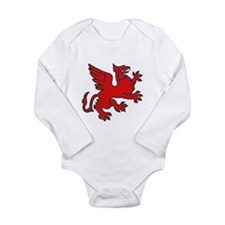 Red Griffin Long Sleeve Infant Bodysuit