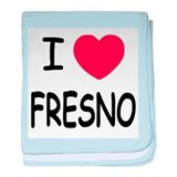 I heart Fresno baby blanket
