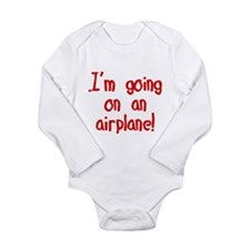 going on an airplane Long Sleeve Infant Bodysuit