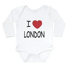 I heart London Long Sleeve Infant Bodysuit