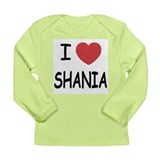 I heart Shania Long Sleeve Infant T-Shirt