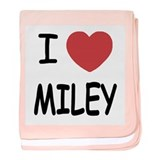 I heart miley baby blanket