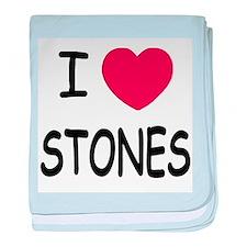 I heart Stones baby blanket