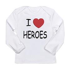 I heart heroes Long Sleeve Infant T-Shirt