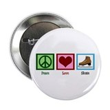 "Peace Love Ice Skating 2.25"" Button"