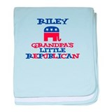 Riley - Grandpa's Little Repu baby blanket