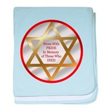 Star of David baby blanket