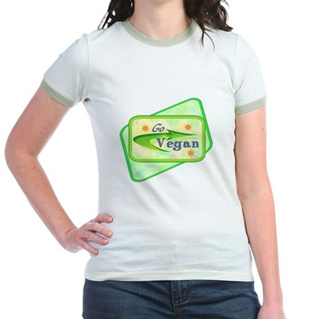 Go Vegan Jr. Ringer T-Shirt
