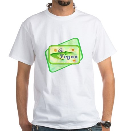 Go Vegan White T-Shirt