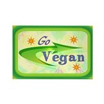 Go Vegan Rectangle Magnet (100 pack)