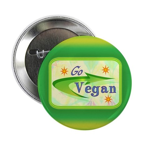 "Go Vegan 2.25"" Button (10 pack)"