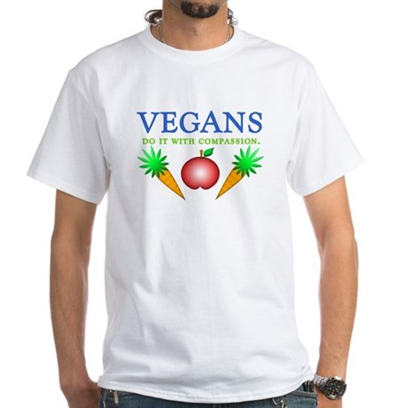 Vegans Do It... White T-Shirt